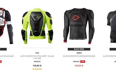 Notre sélection des 5 gilets de protection en promotion et à prix cassés sur Motoblouz