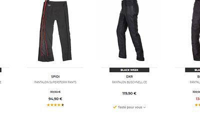 Notre sélection des 5 pantalons moto en promotion et à prix cassés sur Motoblouz