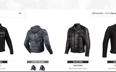 Notre sélection des 5 blousons moto en promotion et à prix cassés sur Motoblouz