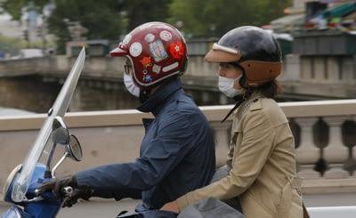 Le port de masque est obligatoire, même pour les motards