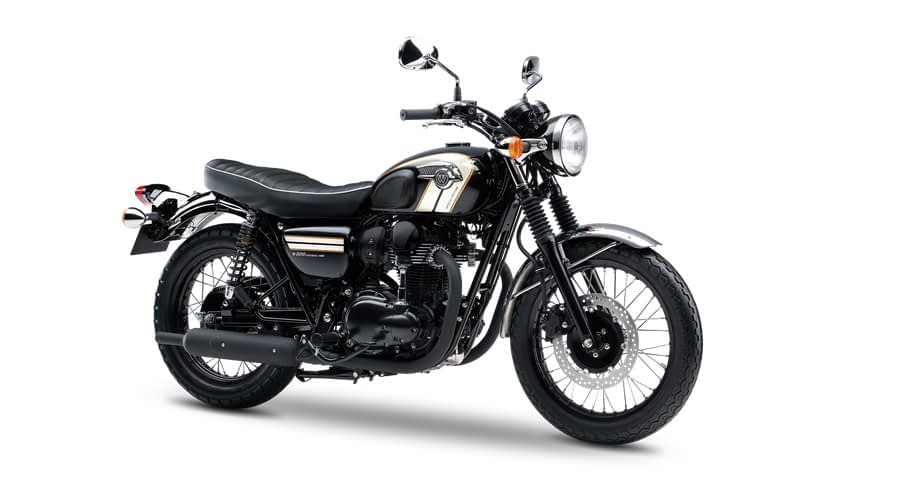 une moto vintage kawasaki